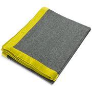 Linen & Moore - Rado Woollen Throw Rug Chartreuse