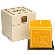 Abode Aroma - Artisan Aromatic Embossed Candle Amber Wood