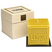 Abode Aroma - Artisan Aromatic Embossed Candle Lemon Zest