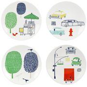 Lenox - Kate Spade About Town Tidbit Plate Set 4pce
