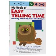 Book - Kumon My Book of Easy Telling Time Hours & Half Hours
