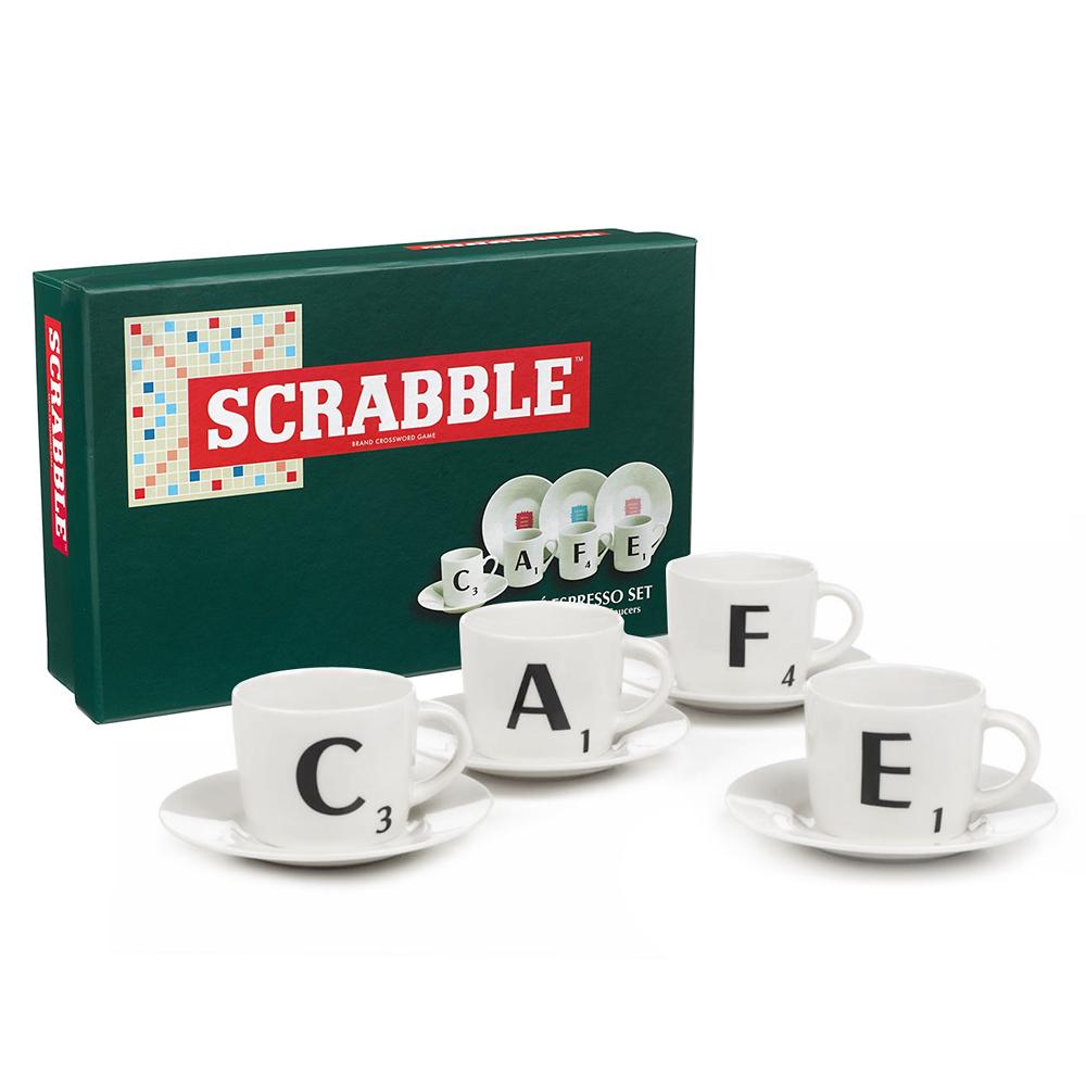 scrabble  espresso set pce  peter's of kensington -