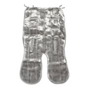 Minimink - Silver Grey Double-Sided Faux Fur Pram Liner