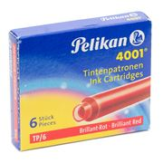 Pelikan - 4001 Red Ink Cartridge Set 6pce