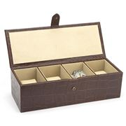 Redd Leather - Crocodile Print Brown Watch Box