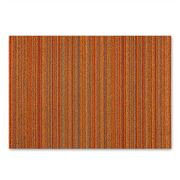 Chilewich - Indoor/Outdoor Skinny Stripe Medium Orange Mat
