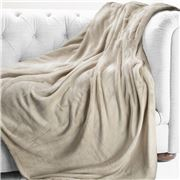 Brogo - Luxe Supersoft Micro Mink Blanket Sand