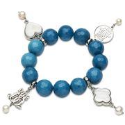 Bowerhaus - Lucky Charm Blue Agate Bracelet