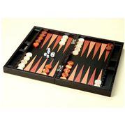 Renzo - Crocodile Leather Black Backgammon Set