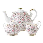 Royal Albert - Rose Confetti Teapot Set 3pce