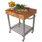 Boos - D'Amico Kitchen Trolley with Butcher's Block