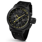 TW Steel - Canteen Cool Black 45mm Watch with Yellow Accents