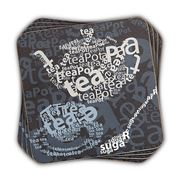 Ladelle - Tea Text Coasters Set 4pce