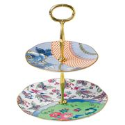 Wedgwood - Butterfly Bloom 2 Tiered Cake Stand