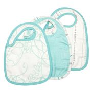 Aden and Anais - Snap Bib Set Azure 3pce