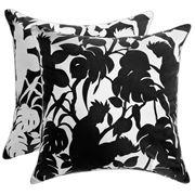 Florence Broadhurst - Cockatoo Black Cushion