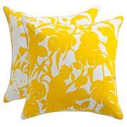 Florence Broadhurst - Indoor/Outdoor Cockatoo Yellow Cushion
