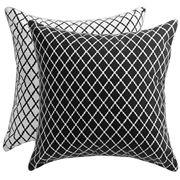 Florence Broadhurst - Antique Lattice Black Cushion