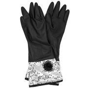 Ogilvies Designs - Fleur de Rose Black Glamour Gloves