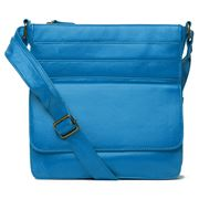 Condura - Pocketed Cross Body Bag Blue