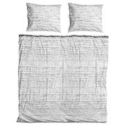 Snurk - Twirre Grey Queen Size Quilt Cover Set