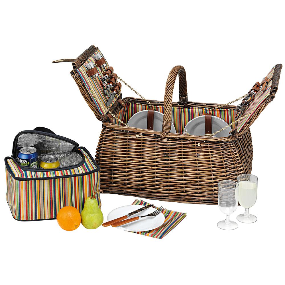 Avanti - Four Person Picnic Basket Light Brown