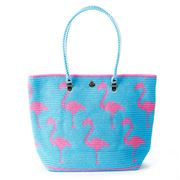 Skipping Girl - Flamingo Sky & Rose Carry All Tote Bag