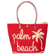 Skipping Girl - Palm Beach Classic Tote Red/Cream