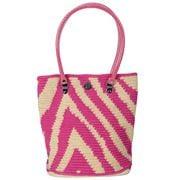 Skipping Girl -  Pink Zebra Classic Tote