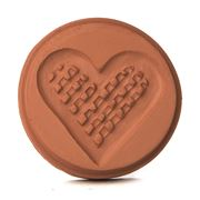 JBK Pottery - Love Heart Cookie Stamp