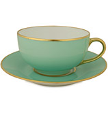 Limoges - Legle Water Green Breakfast Cup & Saucer