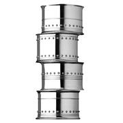 Wedgwood - Vera Wang Grosgrain Silver Napkin Ring Set 4pce