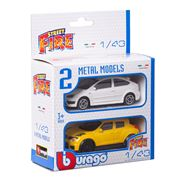 Bburago - Street Fire Metal Model Car Set 2pce