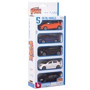 Bburago - Street Fire Metal Model Car Set 5pce