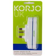 Korjo - Great Britain Double Adaptor Plug
