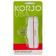 Korjo - USA Double Adaptor Plug