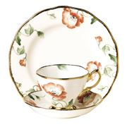 Royal Albert - 100 Years 1970s Poppy Tea Set 3pce