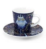 iittala - Taika Blue Espresso Cup & Saucer Set