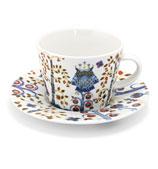 iittala - Taika White Cappuccino Cup & Saucer Set