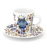 iittala - Taika White Espresso Cup & Saucer Set