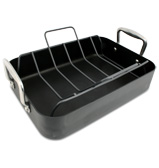 Anolon - Rectangular Roasting Dish with Bonus Rack