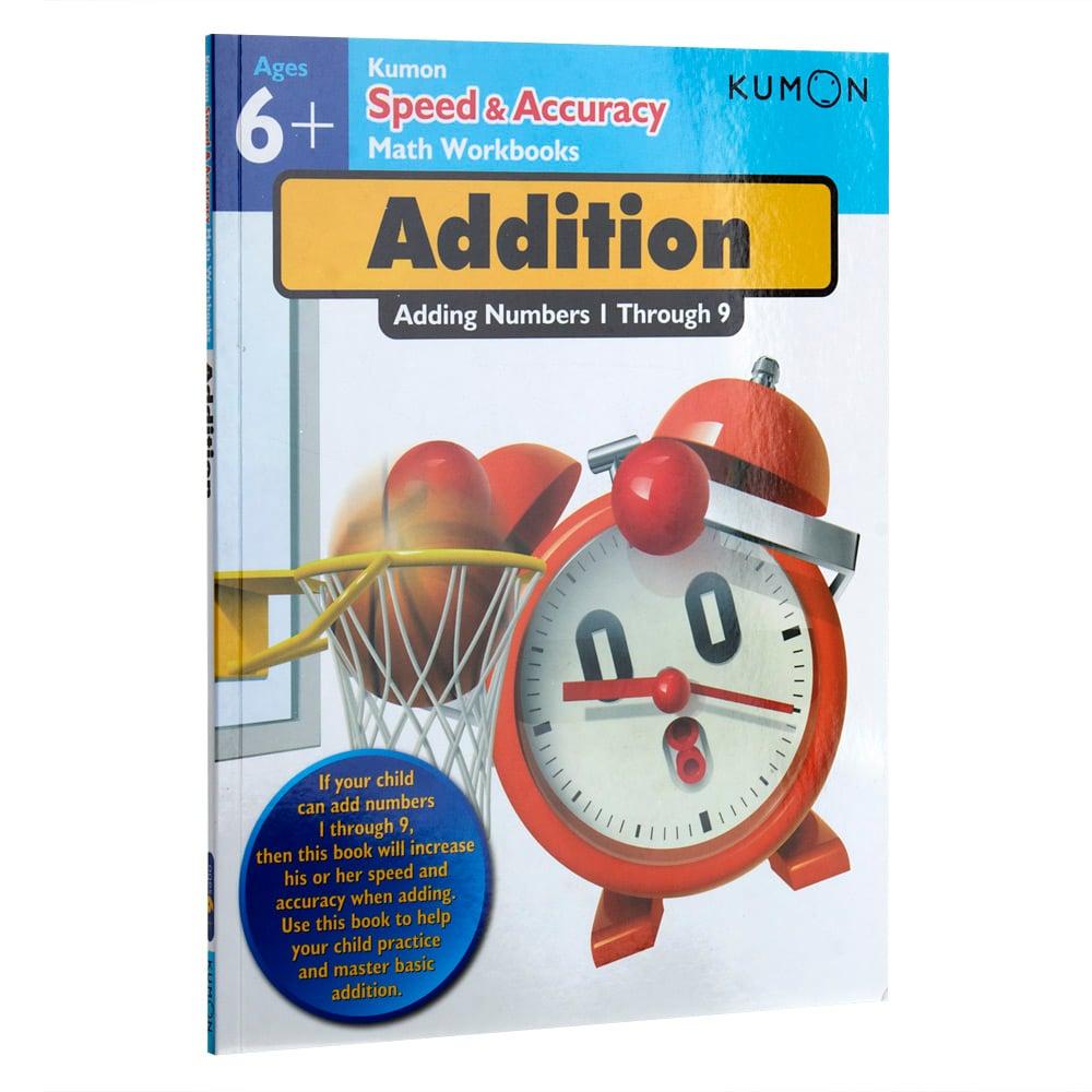 book kumon speed accuracy math workbook addition peter 39 s of kensington. Black Bedroom Furniture Sets. Home Design Ideas