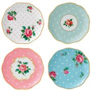 Royal Albert - Vintage Mix Coaster Set 4pce