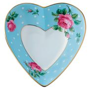 Royal Albert - Polka Blue Heart Trinket Tray