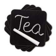 Ladelle - Chalkboard Coasters with Chalk 4pce
