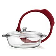 Anchor - TrueSeal Cherry Casserole Dish with Glass Lid 2L