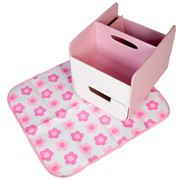 b.box - Nappy Caddy with Change Mat Pretty In Pink