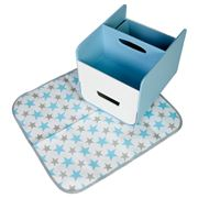 b.box - Nappy Caddy with Change Mat Blue Lagoon