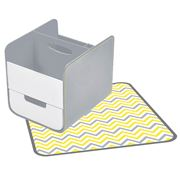 b.box - Nappy Caddy with Change Mat Mellow Lellow