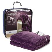 Sunbeam - Feel Perfect Plush Electric Heated Throw Rug